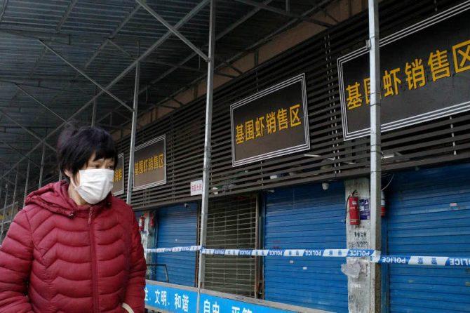 Mercado de Wuhan cerrado