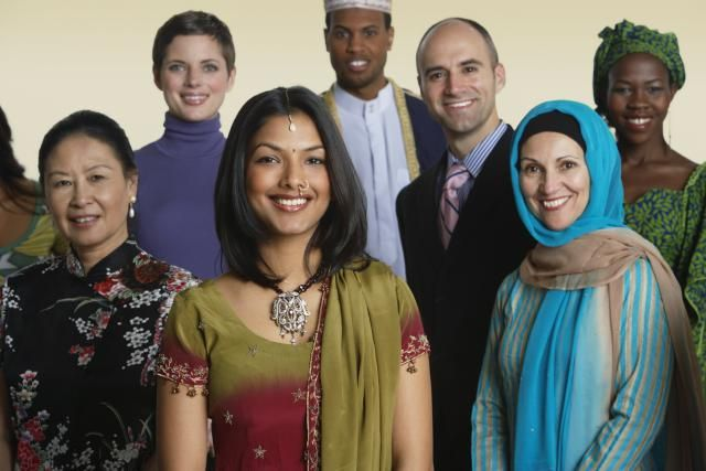 Personas de todas las razas