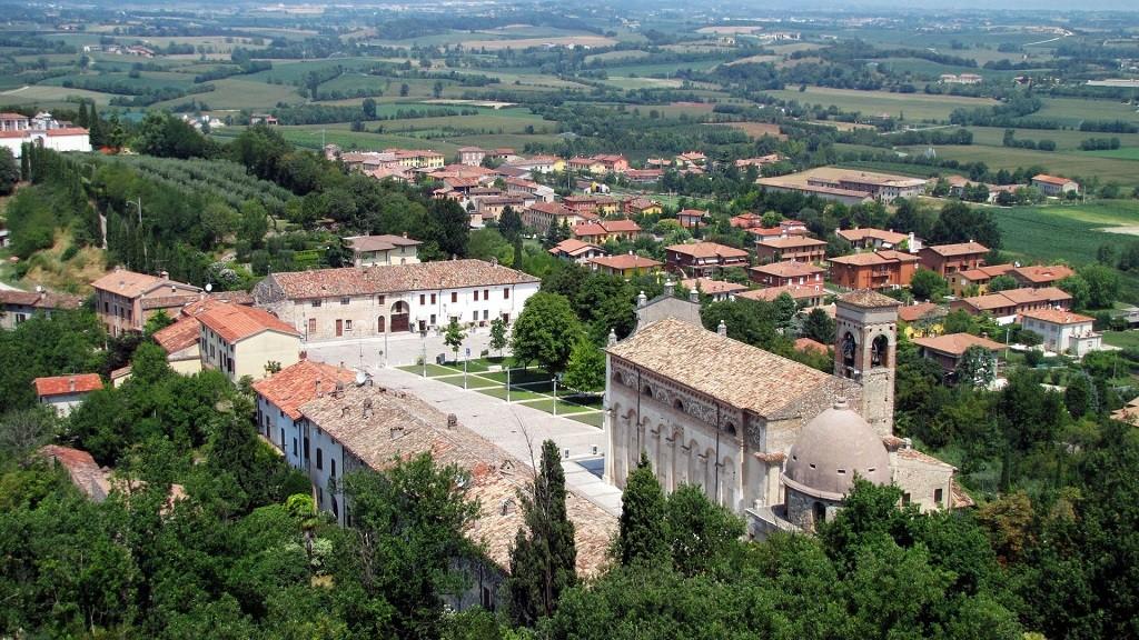 Pueblo de Solferino, Italia, en la actualidad