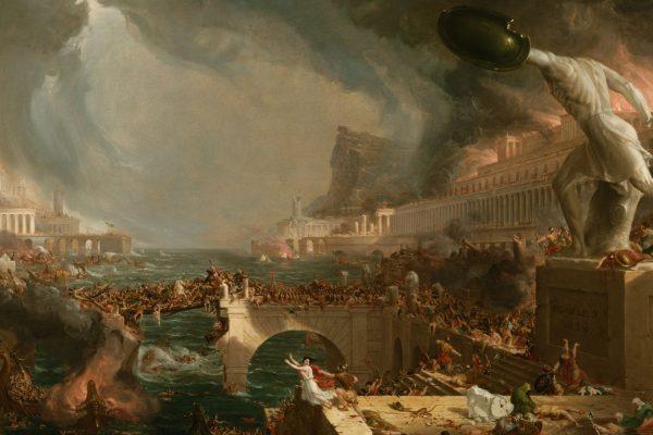 Imagen del cuadro de Thomas Cole, titulado Destruction